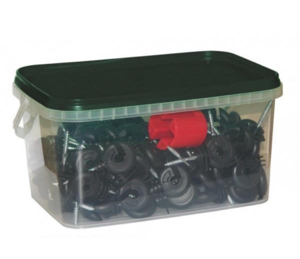 Izolator w pudełku 100szt z nakładką do wkręcania