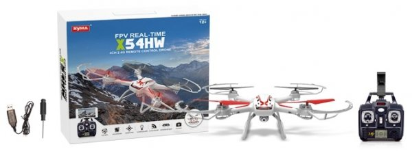 Syma X54HW (kamera FPV 0.3MP, 2.4GHz, zawis, headless, zasięg do 30m, 37cm)