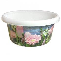 Miska 12 litrów kwiaty- 1 sztuka