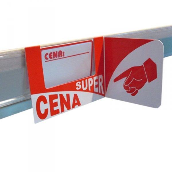 Osłonka cenowa - super cena - na listwę cenową - 5 sztuk