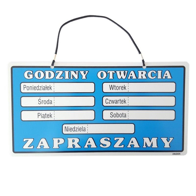 f7a15503e5bced Tabliczka informacyjna - Godziny otwarcia • Tabliczki informacyjne ...