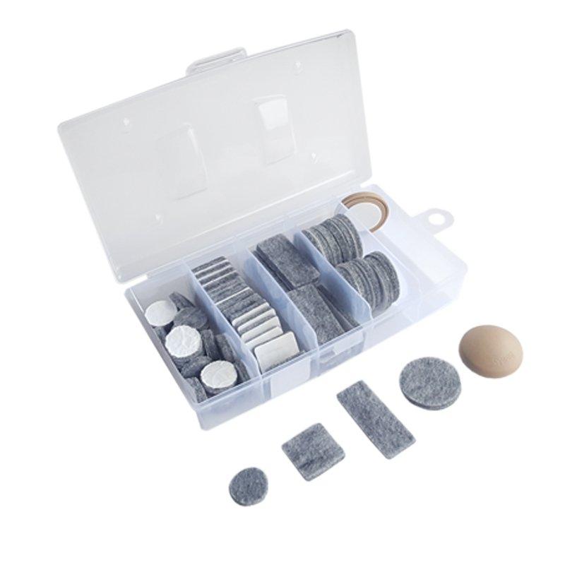 Podkładki filcowe - organizer 59-cio elementowy
