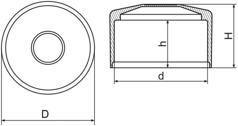 "Nasadka na słupek ogrodzeniowy 2"" (60,3mm) - 1 sztuka"