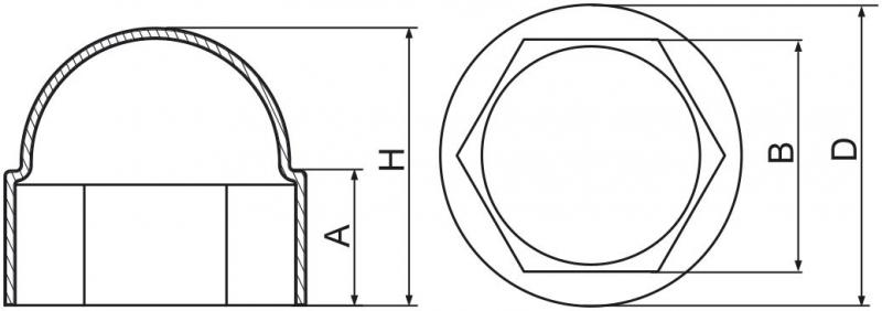 Maskownice śrub M6 - 100 szt