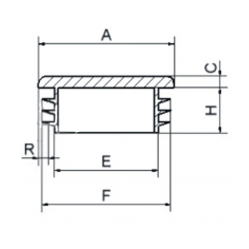 Zaślepka kwadratowa 25x25mm - 10 sztuk
