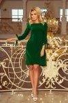 elegancka-sukienka-damska-plus-size-dla-puszystych-xl-xxl-ALICE-rozkloszowana-zielona-wesele-chrzest-komunia-bierzmowanie-przod