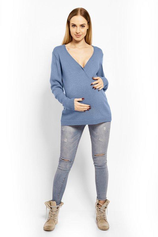 5d2dfdc53a Sweter Ciążowy Model 40002C Blue - Odzież ciążowa - Odzież - XELKA ...