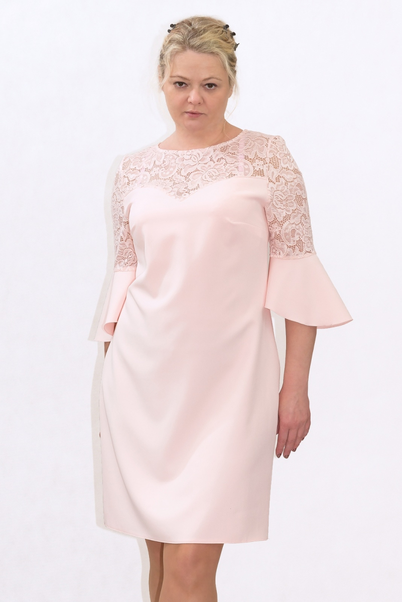8a23bcb7d2 Elegancka sukienka XXL 40-60 na wesele PAOLA duże rozmiary - XELKA ...