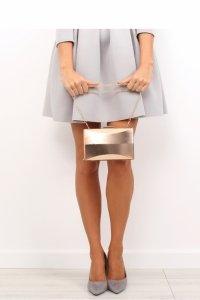 Złota torebka damska kopertówka SYLWESTER SZAMPAŃSKI