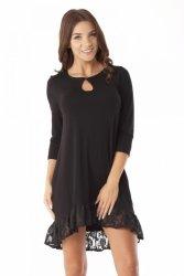 Sukienka tunika oversize z koronką ED08-2 Black