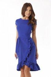 Elegancka sukienka falbaną ED03-2 Chaber