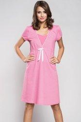 Koszula Nocna Model Aleksandra kr.r. Pink