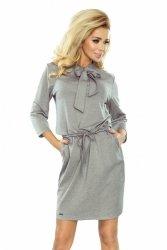 Elegancka sukienka XL ZUZIA 177-2 Zuzia Light Grey PLUS SIZE
