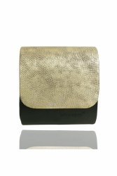 Mała Kopertówka Koperta 647i Black/Gold