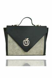 Sztywna torebka teczka MANZANA muflon 821G Grey