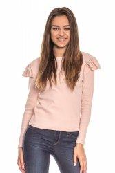 Bluzka damska z falbanką na rękawie 268 Pink