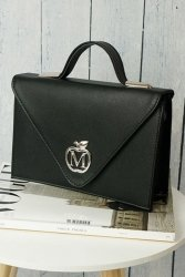 Sztywna torebka teczka klasyczna 843A Black