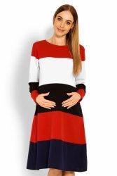 Sukienka dzienna Ciążowa Model 1641 Multicolor