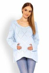 Sweter Ciążowy Model 30058C Sky Blue