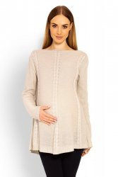 Sweter Ciążowy Model 40005C Beige