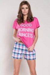 Piżama Damska Model Karena kr.r. kr.sp. Pink