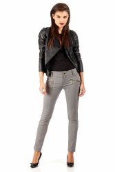 Eleganckie spodnie MOE046 Black