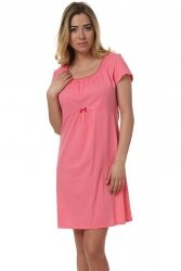 Koszula Nocna Model Dagna kr.r. Pink