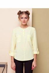 Miękka bluzka w nowoczesnym stylu GR1478_1 Yellow