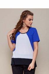 Elegancka bluzka z krepy szyfonowej GR1421 Light Blue