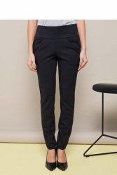 Spodnie z mękkiej, elastycznej dzianiny GR1346 Black