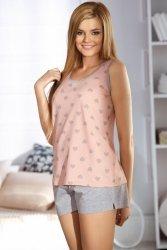Piżama Damska Model 3039 Pink/Grey Serca