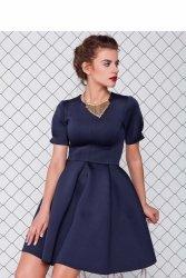 Sukienka z neoprenu GR1079 Blue