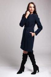 Płaszcz damski PLA025 navy blue