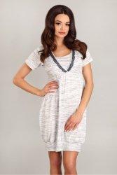 Koszula Nocna Model 1742 White/Grey