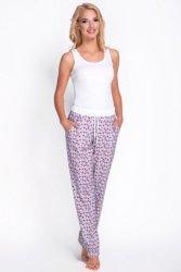 Spodnie Piżamowe Model 3076-2 Grey Grochy