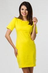Sukienka dzianinowa M-034 Yellow