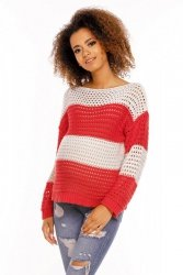 Sweter model 70002C Neon Coral