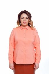 Bawełniana damska modna bluzka TR1817_1 Brzoskwiniowy