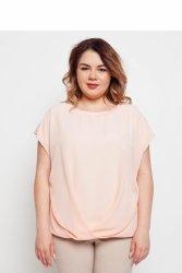 Elegancka eteryczna damska bluzka TR1831 Pudrowy