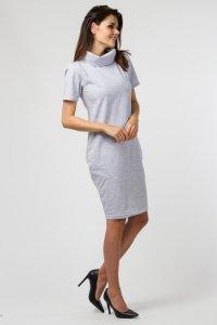 Sukienka dzienna PLUS SIZE z dzianiny 40-54 duże rozmiary Light Gray Melange