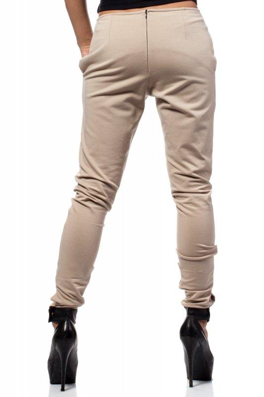 Spodnie-Damskie-Model-MOE157-Beige-tyl