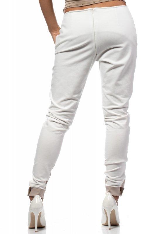 Spodnie-Damskie-Model-MOE157-Ecru-tyl