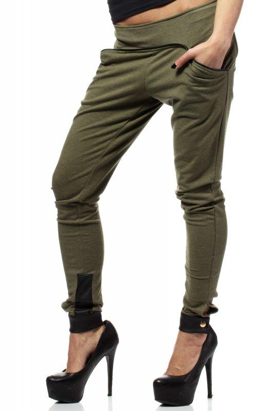 Spodnie-Damskie-Model-MOE157-Khaki