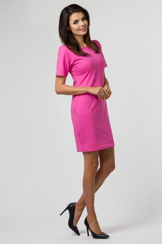Sukienka dzianinowa M-034 Pink