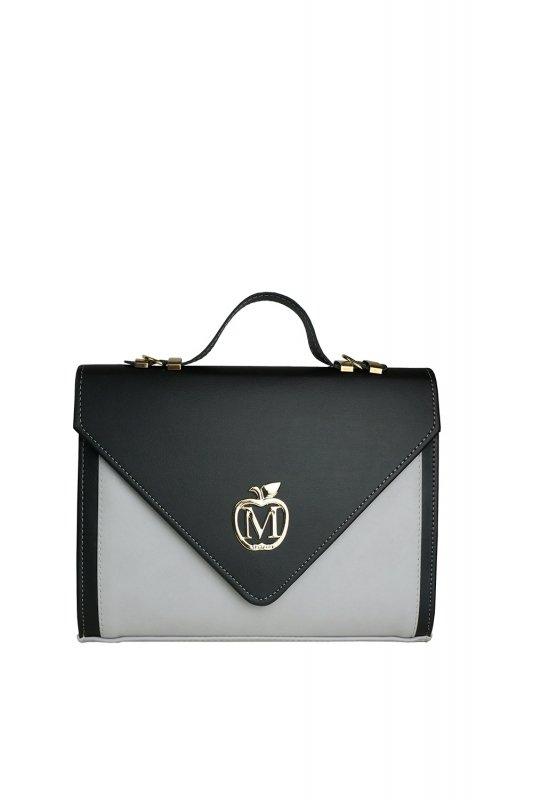 Sztywna torebka teczka 821B Black/Grey