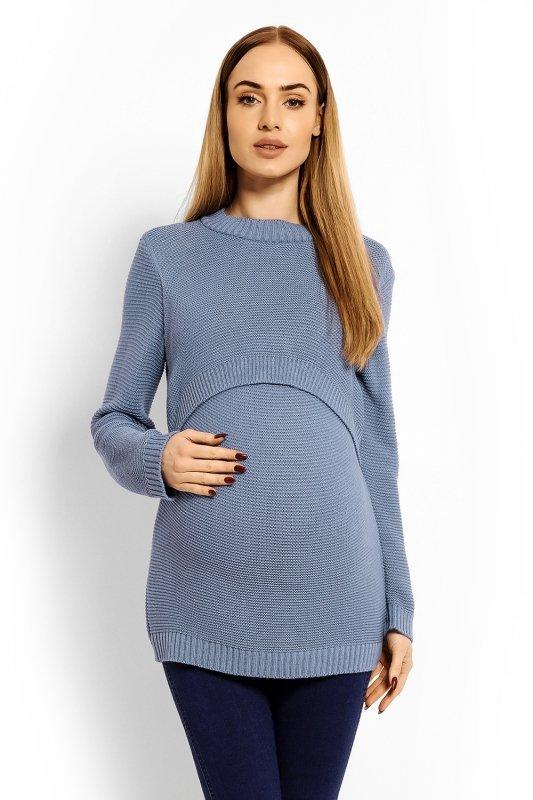 Sweter Ciążowy Model 40001C Blue
