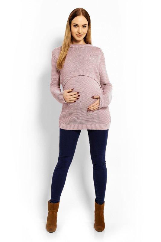 Sweter Ciążowy Model 40001C dirty Pink