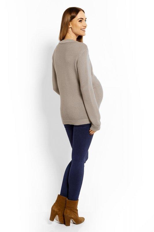 c320ffc7 Sweter Ciążowy Model 40001C Cappuccino
