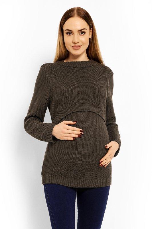 Sweter Ciążowy Model 40001C Brown