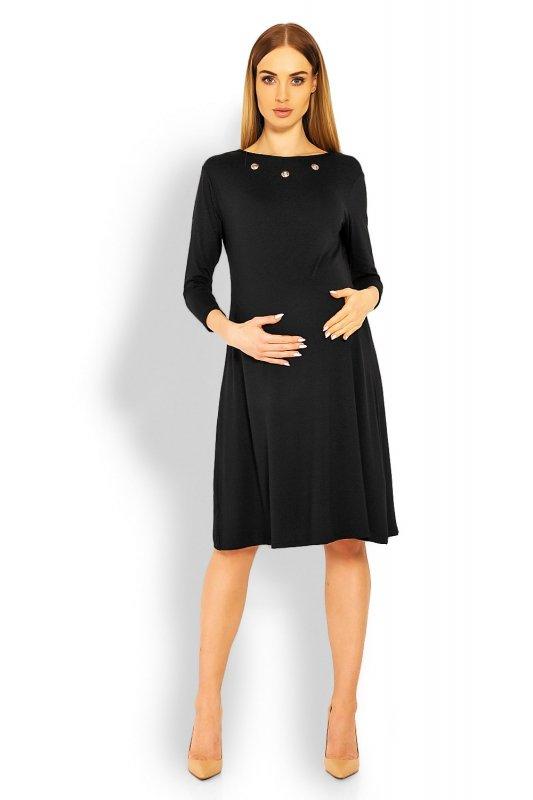 Sukienka dzienna Ciążowa S-XXL Model 1631C Black